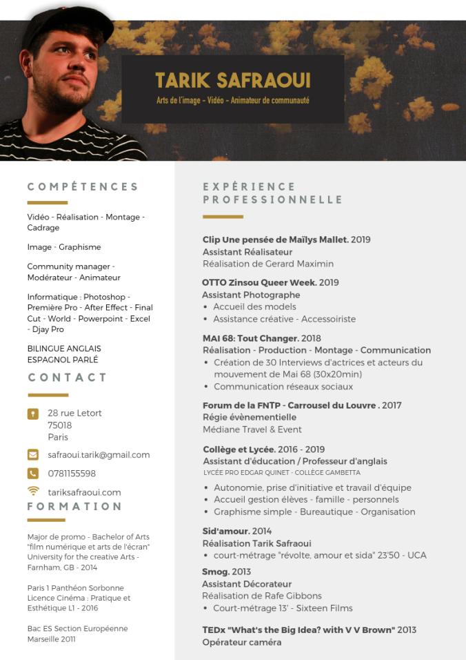 CV Tarik Safraoui